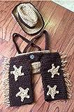 AngelMommyPatten® Original Designer Handmade Crochet Cowboy Chaps Outfit Set/photography Prop/halloween Costume/baby Shower Gift