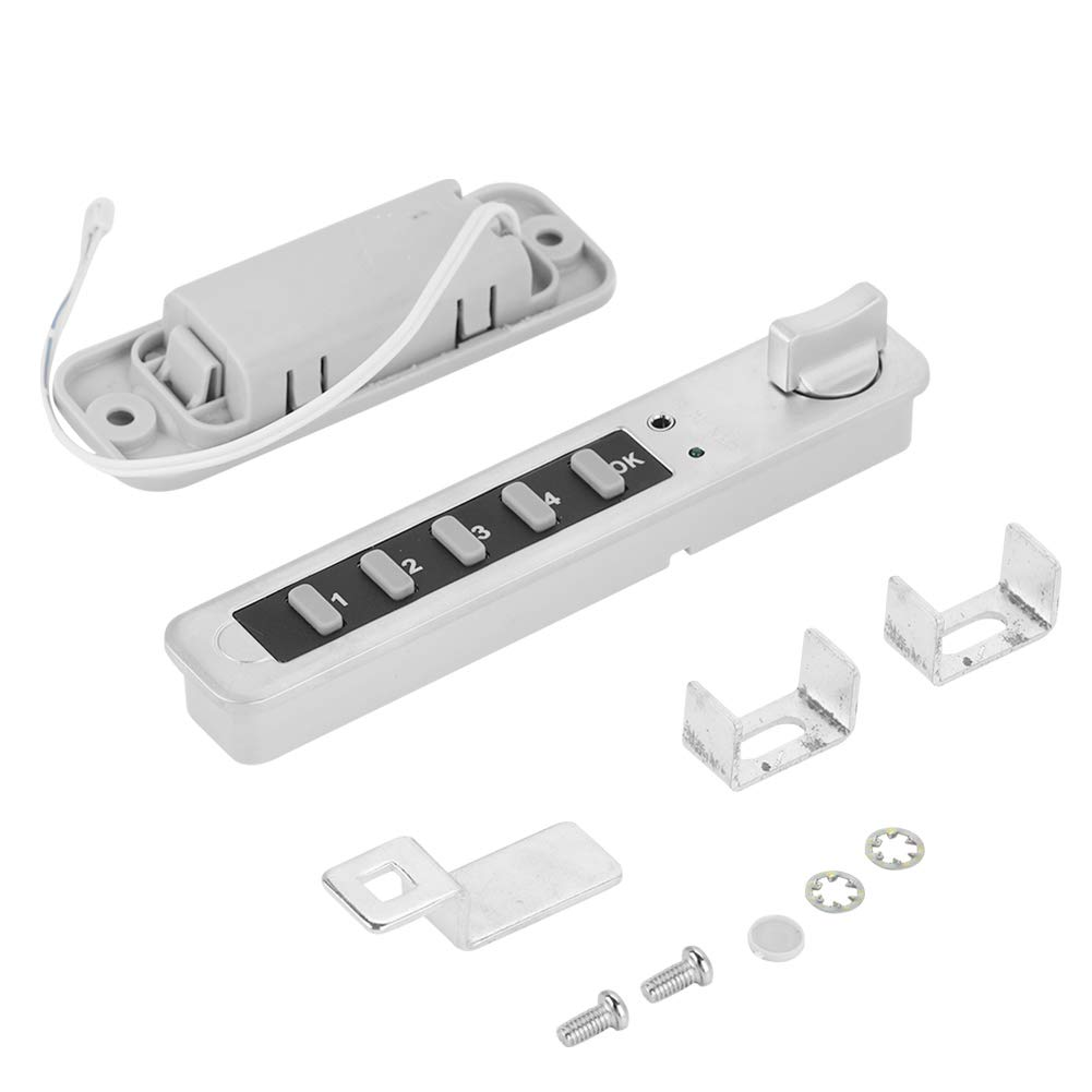 8 Dight Code Lock,Cam Cabinet Silver Zinc Alloy Password Security Coded Lock(#1)