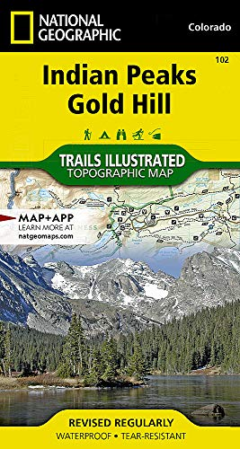 Indian Peaks, Gold Hill (National Geographic Trails Illustrated -