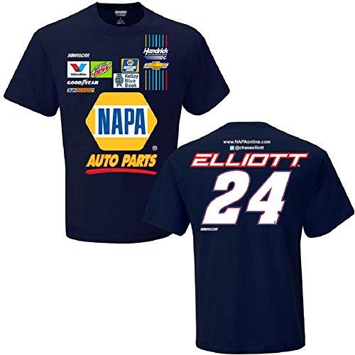 NASCAR Men's-Driver/ Sponsor-Team Uniform T-Shirt-Chase Elliott #24-Navy-XL (Drivers Uniform For Men)