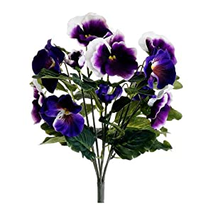 "13"" Pansy Bush Purple Cream (Pack of 12) 118"
