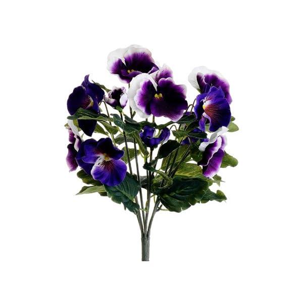 13″ Pansy Bush Purple Cream (Pack of 12)