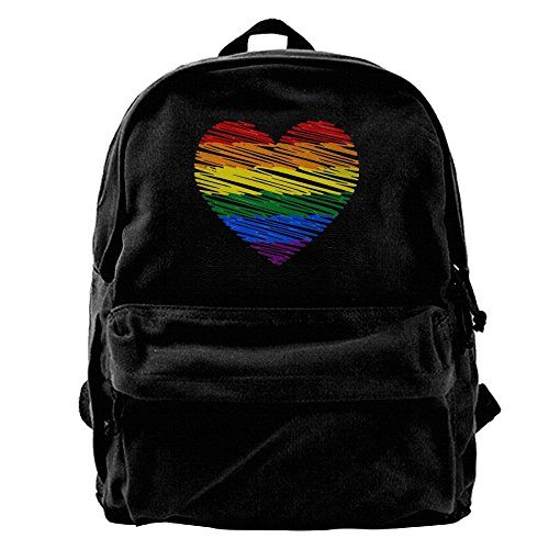 Rucksack Pride School BI AIDEAR Large Boys Bag Rainbow and Vintage Laptop Girls Travel Canvas Backpack Hiking T5qx5nZv