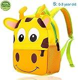 Toddler Backpack for Boys Girls Neoprene Kids Backpack for Preschool, Cute Animal Cartoon Design School Bag by Agsdon