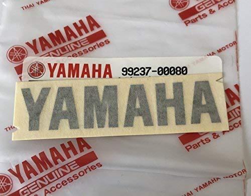 Snowmobile Atv Jet Ski Yamaha 100/% Genuine Decalcomania Logo Stemma 80mm x 18mm Metallizzato Grigio Scuro Adesivo Moto