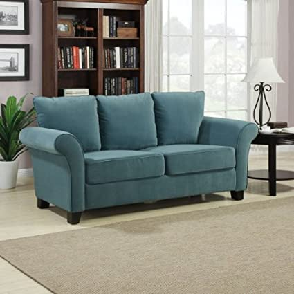 Milan Velvet Sofa (Turquoise) (36u0026quot;H X 74u0026quot ...