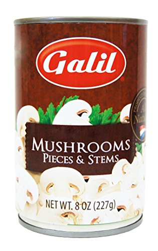 Galil Mushrooms Pieces and Stems, 8 Ounce (Pack of 12) by Galil