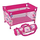 """Pack N Play Pen Bed for Dolls Doll Bed Accessory Fits Any Baby Dolls and Dolls up to 18"""" Carry Bag Included"""
