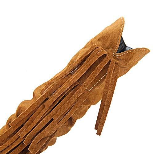 Inverno Autunno Tacco Rotonda Eleganti Stivali Donna Punta Giallo Snow Nappe Challenge Boots Martin Alto Con Cavaliere Piatte Invernali Stivaletti Scarpe A ZxIU5FHq