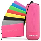 Proworks Microfibre Towel, Quick Dry Gym Towel with Travel Bag, Ultra-Light Beach Towel, Space-saving Microfibre Hair Towel, Sports Towel for Men, Women & Children, XXX Large - Pink
