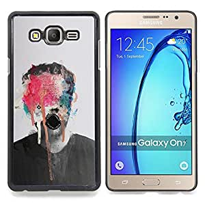 - Abstract Art Monster Paint Photo Man - - Snap-On Rugged Hard Cover Case Funny HouseFOR Samsung Galaxy On7 G6000
