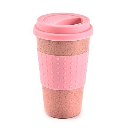 Greencolorful Taza de café de silicona reutilizable, tamaño grande, plegable, diseño de tapa