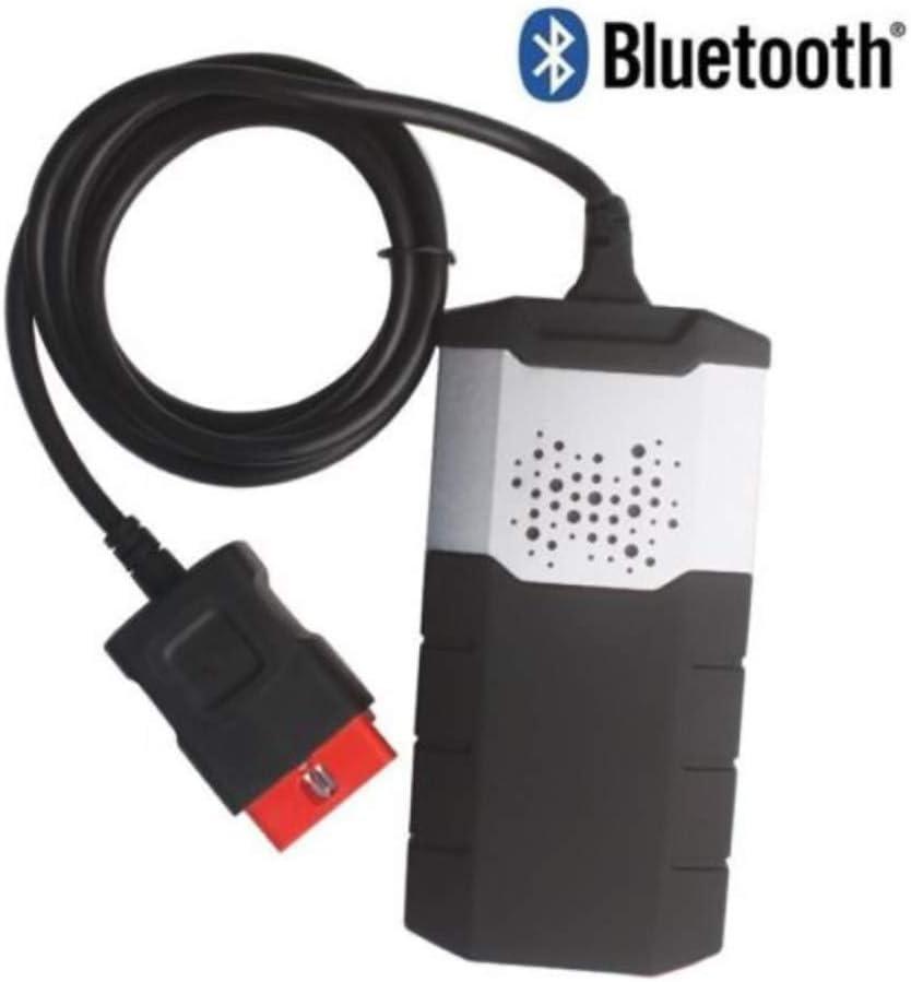 150E TCS CDP OBD2 avec LInstrument 2016.1 de Diagnostic de Panne de Camion de Voiture de Bluetooth,pour Les Voitures et Les camions,Black