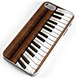 iPhone Case Fits iPhone 8 Piano Keyboard Musical Instrument Ivory Keys Pedal Clear Plastic