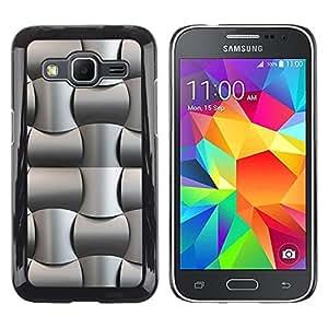 For Samsung Galaxy G360 G3608 G3606 - Black Oil Plastic Weave Pattern /Modelo de la piel protectora de la cubierta del caso/ - Super Marley Shop -