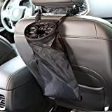 Automotive : IPELY Car Vehicle Back Seat Headrest Litter Trash Garbage Bag (Black-Set of 2)