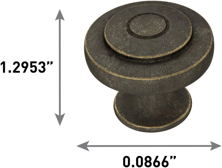 32mm Soft Ringed Knob Brushed Nickel Franklin Brass P29526-SN-C 1-1//4