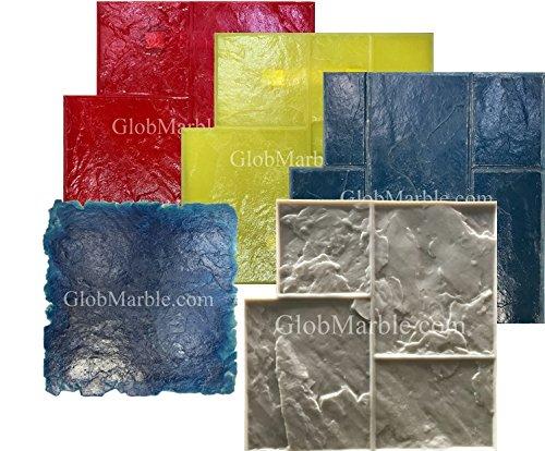 5 Piece Shlar Slate Stone Stamp Set GlobMarble SM 3002 by GlobMarble
