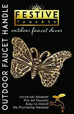 Festive Faucets - Butterfly Garden Faucet Handle - Universal Outdoor Faucet Handle
