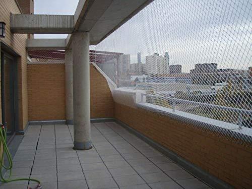 Redes de protección y Seguridad de Polipropileno Blanco sin Nudos 3 mm. para Balcones, terraza, pasamanos etc ... (3mx2m): Amazon.es: Hogar