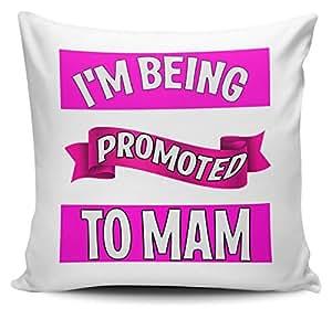 I 'm ser promovido a mamá regalo funda de cojín 40cm x 40cm
