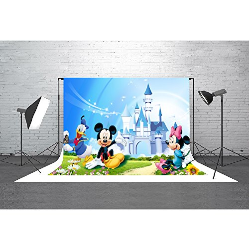 New Meets 10x7ft Disneyland Backdrop Donald Duck Mickey