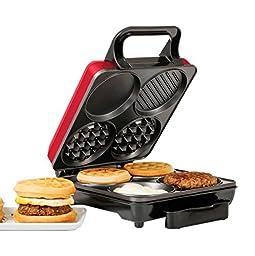 Holstein Housewares HU-09008R-M Breakfast Station - Metallic Red