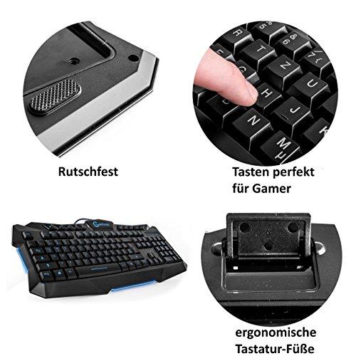 Ergonomische tastatur und maus  Gaming Tastatur und Maus Set, – blaue: Amazon.de: Computer & Zubehör