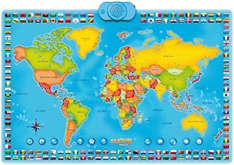 Zanzoon Interactivo mi Mapa Mundo Talking Póster: Amazon.es: Deportes y aire libre