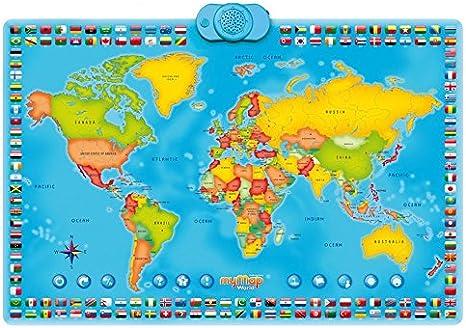 Zanzoon Interactivo mi Mapa Mundo Talking Póster: Amazon.es ...