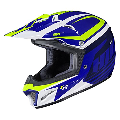 HJC Youth CL-XY 2 Helmet - Bator (Large) (Blue/White/HI-VIZ)