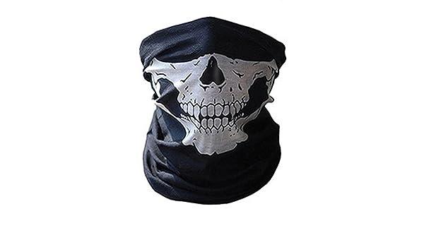 Woopower Máscara de Calavera para Casco de Motocicleta o ...