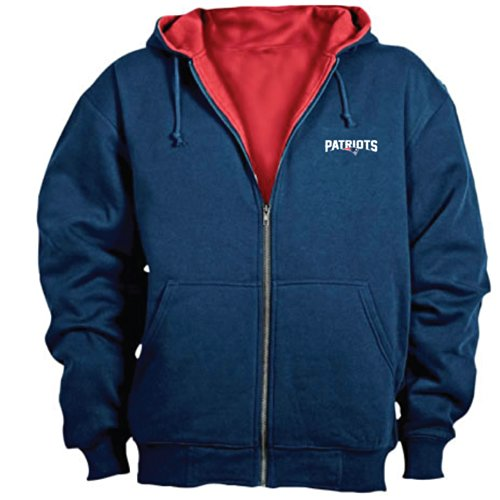Dunbrooke NFL Craftsman Full Zip Thermal Hoodie, New England Patriots - 2X