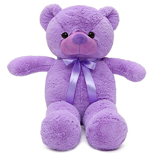 VERCART 15 inch Purple Giant Teddy Bear Stuffed Animal Plush Toys Lavender Bear