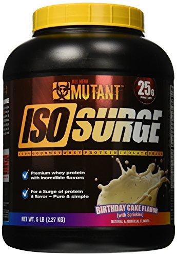 Mutant Isosurge Whey Isolate Protein Powder 5 Lbs Birthday Cake Flavor