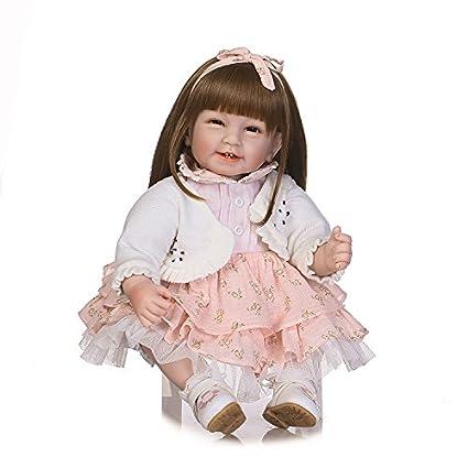 Amazon.com  OCS 55cm Lifelike Reborn Baby Realistic Soft Silicone ... 965233448a