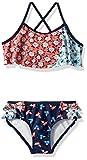 Jessica Simpson Big Girls' 2-Piece Bikini Swimsuit Set, Flutter Folky Ditsy, 7
