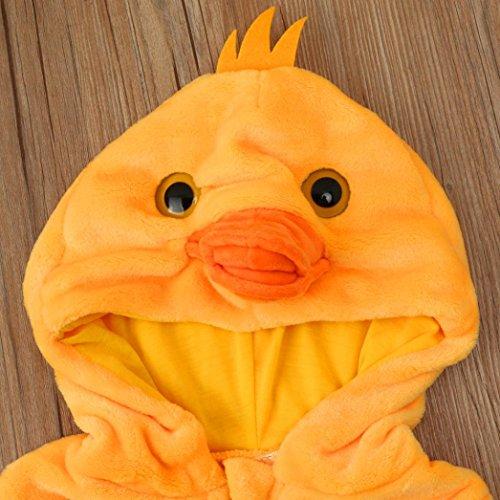 Omiky® Kleinkind Neugeborene Baby Jungen Mädchen Tier Cartoon Hoodie Spielanzug Outfits Kleidung Gelb