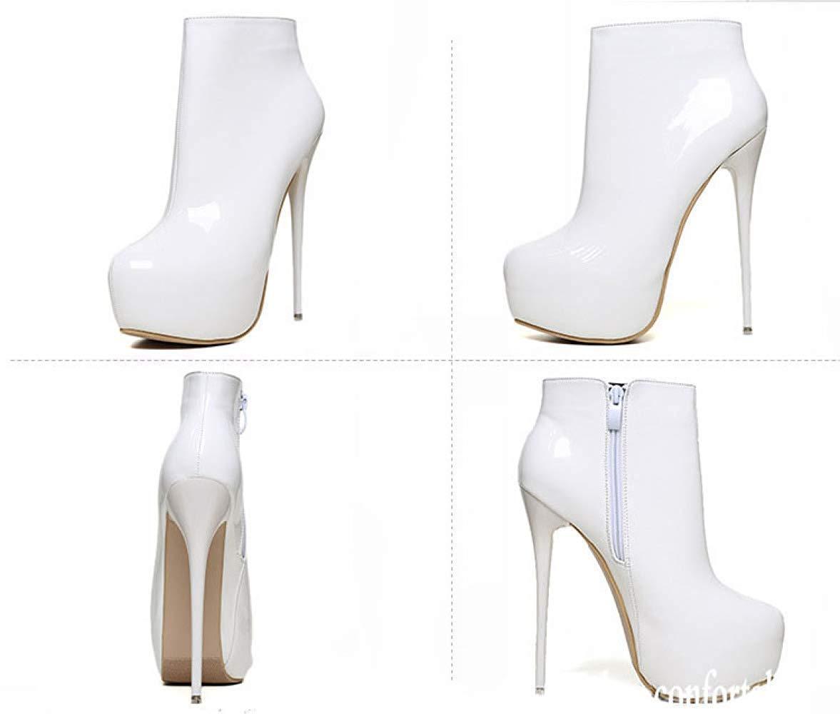 Fuxitoggo Damen High Heel Stiefeletten Mode High-End-Schuhe (Farbe    Weiß Größe  (Farbe  43EU) 6774eb