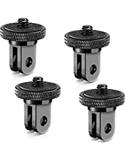 4 Pieces Aluminum Camera Conversion Tripod Adapter 1/4-20 Conversion Adapter Metal Camera Mount Adapter for Tripod Compatible with GoPro Action Cameras and Other Standard 1/4 Accessories