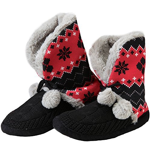 DC Comics Harley Quinn Womens Pom Bootie Slipper - Medium (Womens 7/8) for $<!--$19.99-->