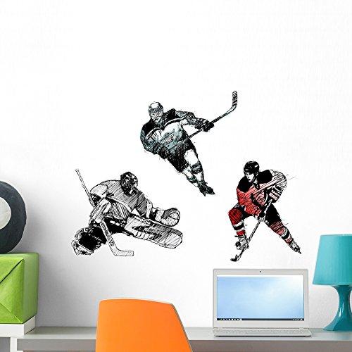 Wallmonkeys Ice Hockey Tiro Wall Decal Peel and Stick Graphic WM37814 (24 in W x 17 in H)