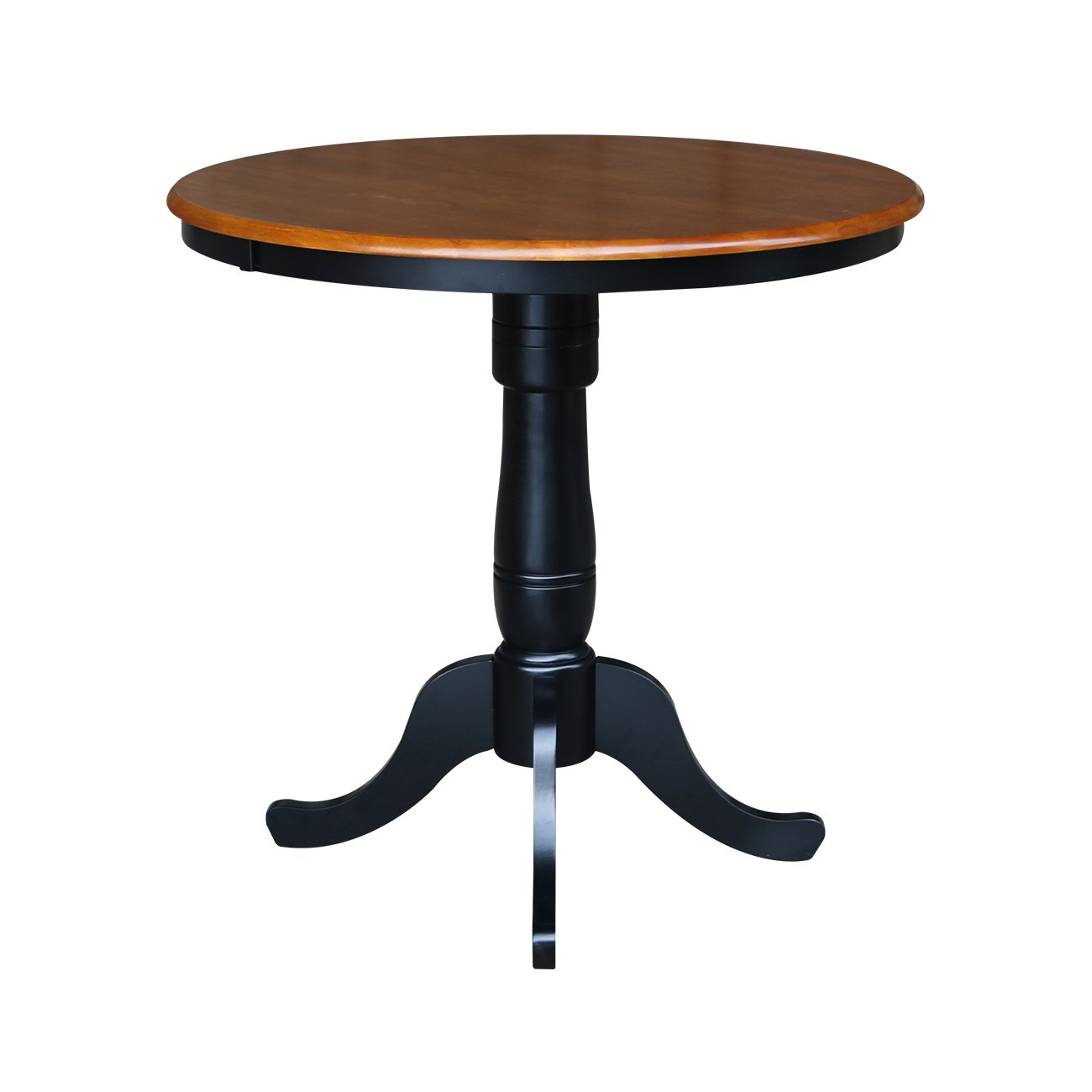 Counter High Round Table.International Concepts 36 Round Counter Height High Dining Table In Black