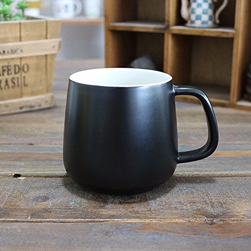 Bazaar 400ML Matte Ceramic Mug With White Interior Creative Couple Coffee Cups Drinkware Gift For Lover