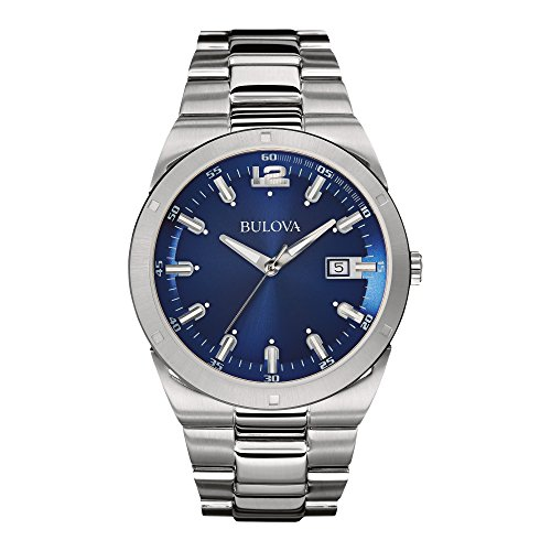 Men's Classic 96B220 Silver Stainless-Steel Quartz Watch