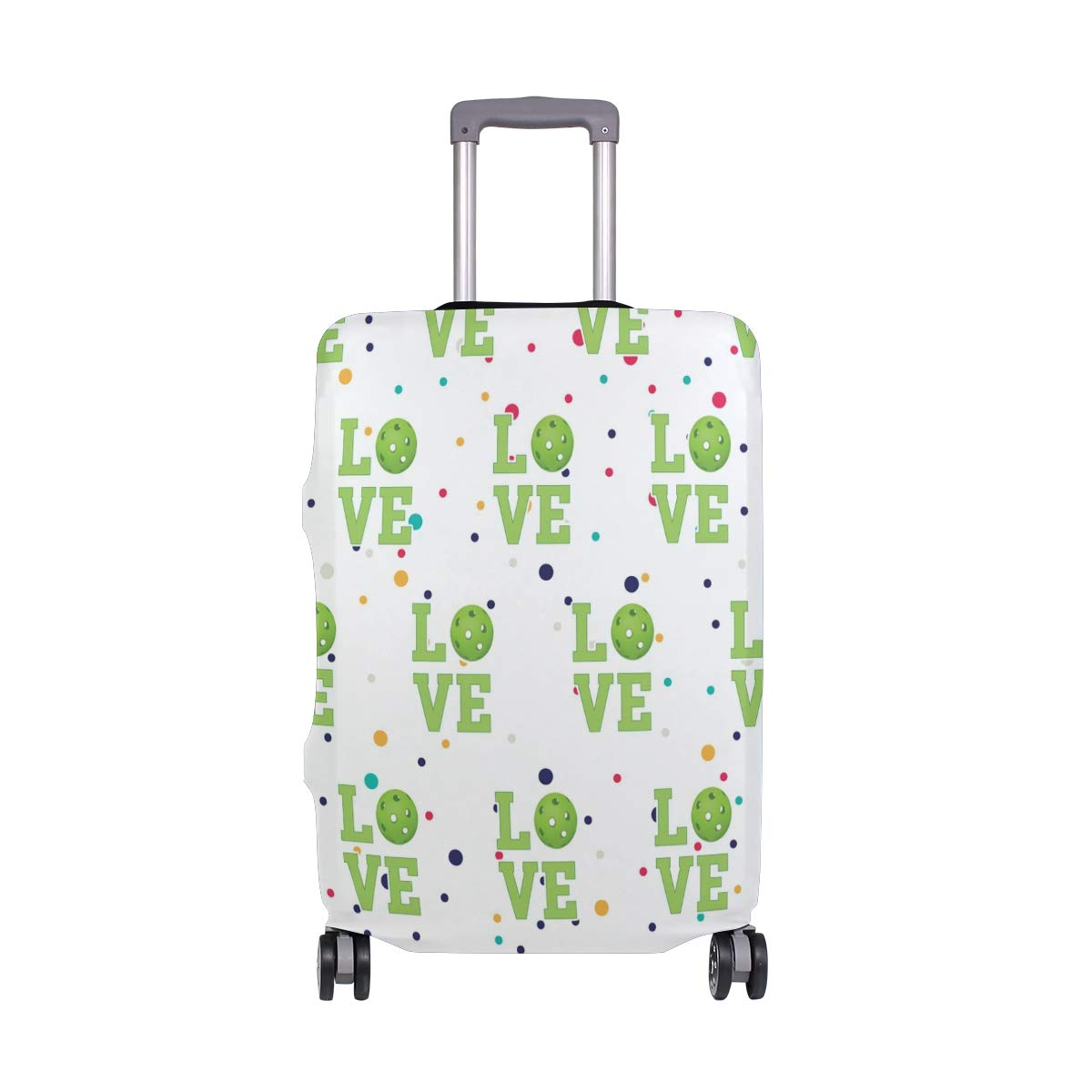 Love Pickleball Travel Luggage Cover - Suitcase Protector HLive Spandex Dust Proof Covers with Zipper, Fits 18-32 inch