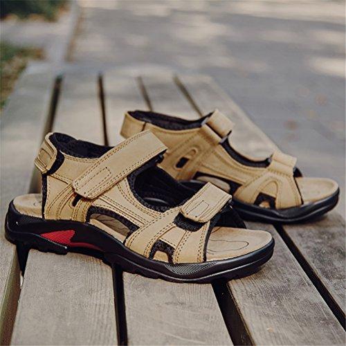 Sandali Khaki Taglie Sandali HN in 38 46 Trekking diEscursionismo Sandali Shoes per Pelle Uomo da 5q4Rg1qAP