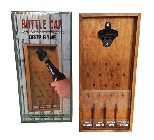 Tic Tac Toe Shot Glass Drinking Game, Beer Bottle Opener Cap Game, His & Hers Wine Cork & Beer Cap Shadow Box (BOTTLE CAP DROP)