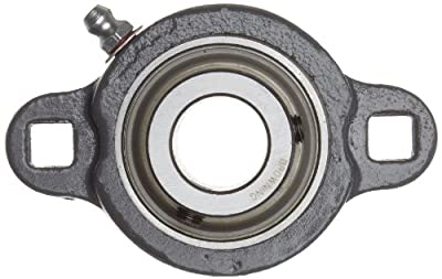 """Browning VF2S-116M Intermediate-Duty Flange Unit, 2 Bolt, Setscrew Lock, Regreasable, Contact and Flinger Seal, Ductile Iron, Inch, 1"""" Bore, 3"""" Bolt Hole Spacing Width, 3-3/4"""" Overall Width"""