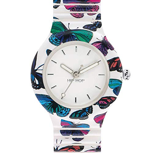Hip Hop Watches - Orologio da Donna Hip Hop Butterfly HWU0675 - Collezione  Animals Addicted - Cinturino in Silicone - Cassa 32mm - Impermeabile
